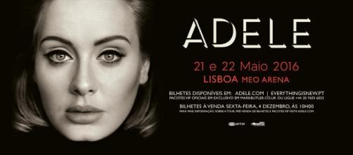 Adele estará em Portugal nos dias 21 e 22 de maio.