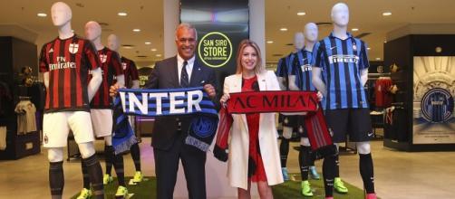 I dirigenti di Inter e Milan al San Siro store