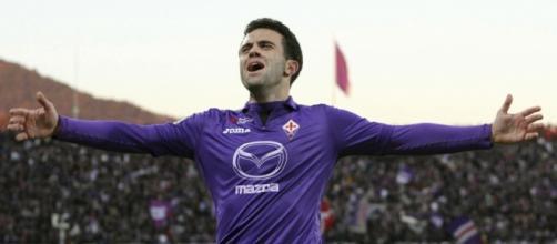 L'attaccante della Fiorentina, Giuseppe Rossi