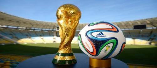 The FIFA World Cup trophy 2014.