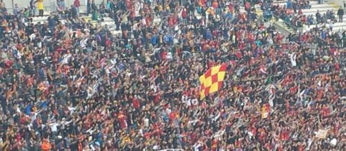I tifosi del Messina nel derby con il Catania
