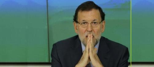 Rajoy en una reunión del partido popular.