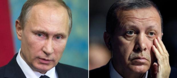 A Rússia de Putin acusa a Turquia de Erdogan