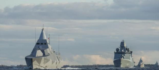 Barcos de la OTAN operativos en el mar