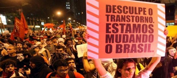 Manifestação nas ruas do Brasil