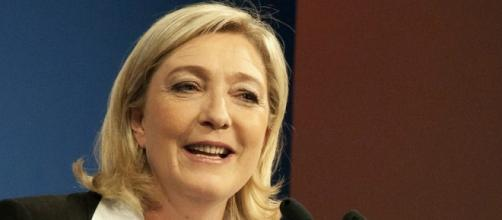 Alla guida del Front National, Marine Le Pen.