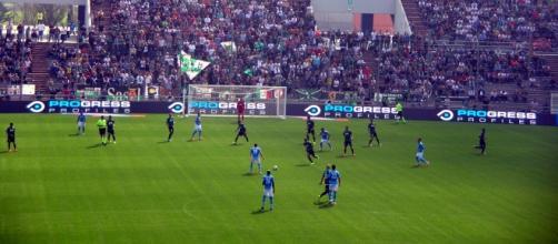 Il Sassuolo in azione contro il Napoli