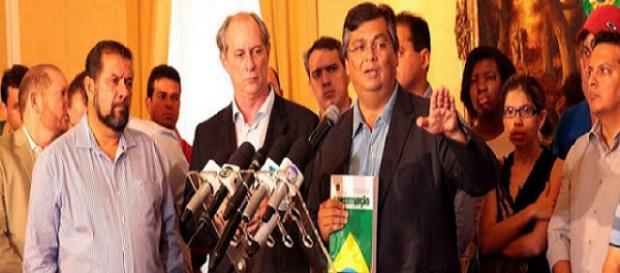 Ciro e DIno denunciam golpe contra Dilma