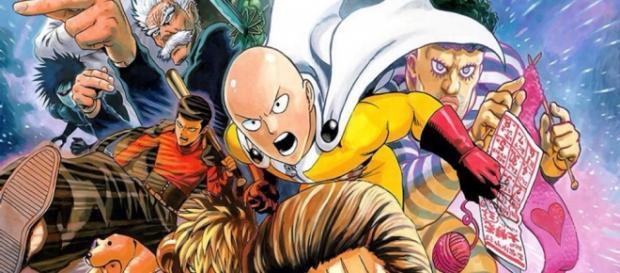 Ilustración del manga de One Punch Man