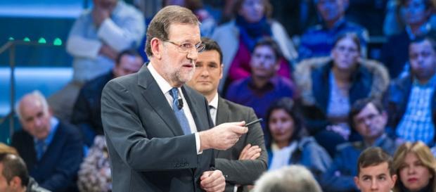 Rajoy anoche, con este cronista entre el público.