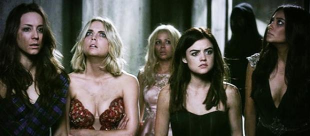 Spencer, Hanna, Mona, Aria, Emily and -A