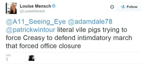 Louise Mensch in bizarre Twitter rant