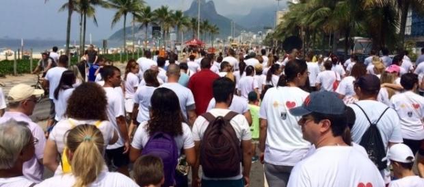 Caminhada que aconteceu no Rio de Janeiro