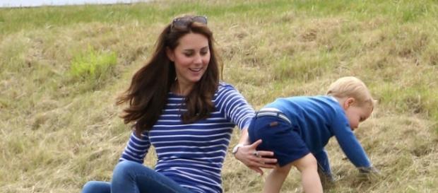 Kate Middleton insieme al figlio George