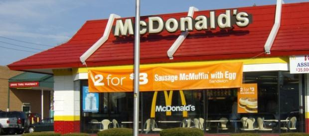 Un ristorante di McDonalds in Europa