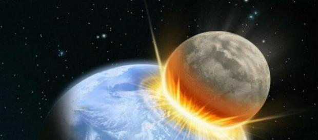 Recreación de asteroide que podría impactar.