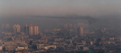 Así es la capa de polución que cubre Pekín