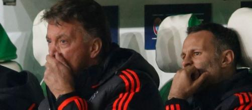 Louis van Gaal watched his United side exit the CL