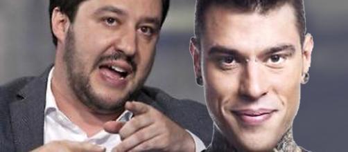 Matteo Salvini e il rapper Fedez
