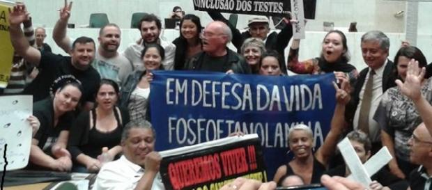 protesto em São Paulo. foto: web