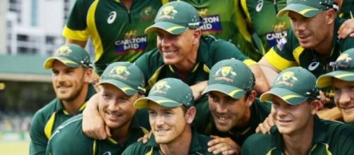 Australia win the tri-series trophy