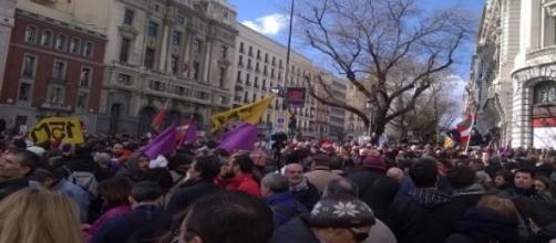 Desde Gran Vía-Alcalá, hacía Sol (Foto del A.)