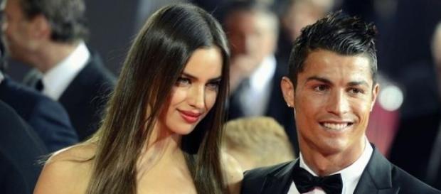 Irina y Cristiano Ronaldo, gala a balón de oro.