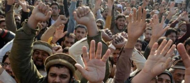 Proteste anti-Charlie Hebdo in Pakistan