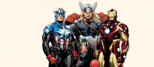 Les Avengers et Spider-Man rassemblés.