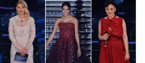 I look di Emma, Arisa e Rocio a Sanremo 2015.