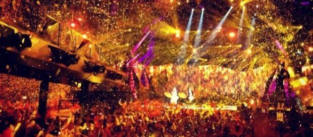 Actuación durante el festival de Eurovisión