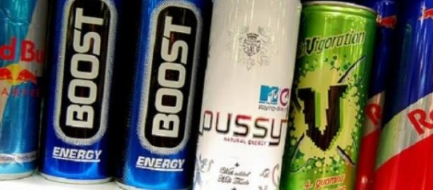 Alguns exemplos de bebidas energéticas.