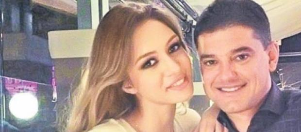 Cristian Boureanu si iubita lui
