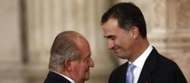 Juan Carlos e il Re Felipe VI