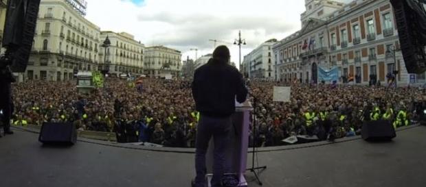 Pablo Iglesias en su discurso del día 31 de enero