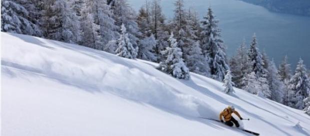 scendere su questa neve è il sogno degli sciatori
