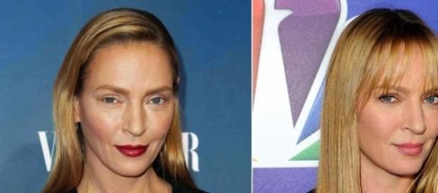La actriz Uma Thurman, antes y depués