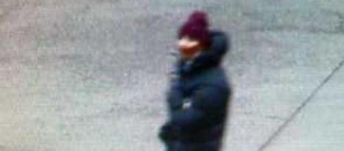 A photo of the suspect walking in Copenhagen