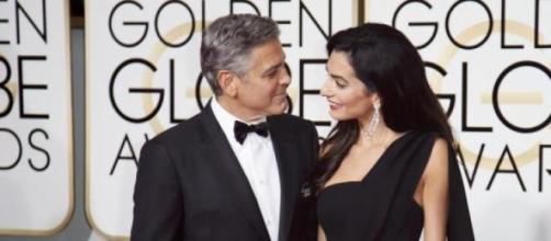 Foto de la pareja en los Globo de Oro