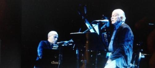 Gino Paoli e Danilo Rea in una fase del concerto