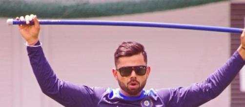 Virat Kohli during a training session