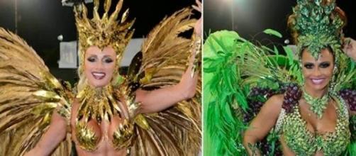 Viviane e Juju, as musas do Carnaval de São Paulo.
