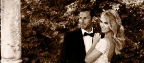 Foto de la  expareja del dia de su boda