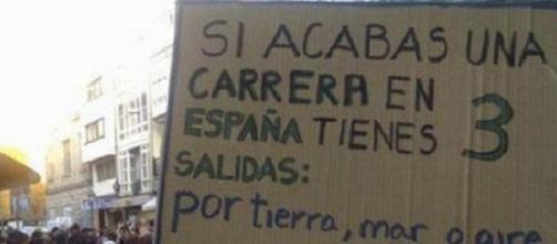 Preocupante paro juvenil en España