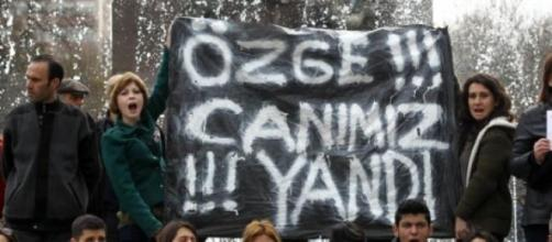 Protesters in Ankara, Turkey