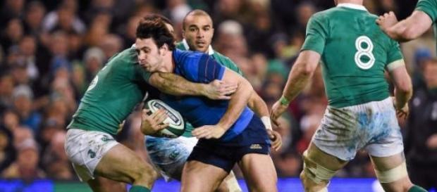 Lamérat stoppé par la défense irlandaise