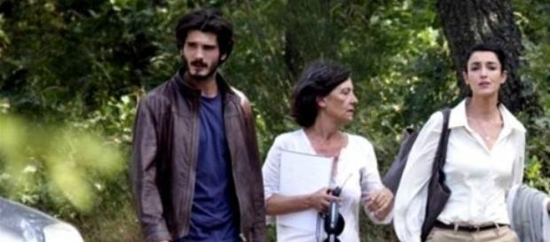 Yon y Blanca  durante la grabación de la serie