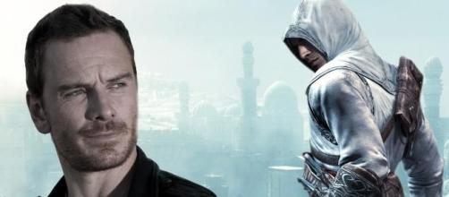 El actor Michael Fassbender y Desmond (Assassin´s)