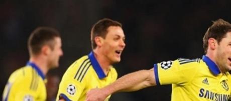 Ivanovic celebrates scoring Chelsea's opener