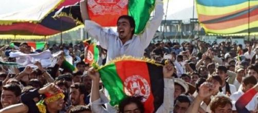 Afghan cricket fans got behind their team on debut